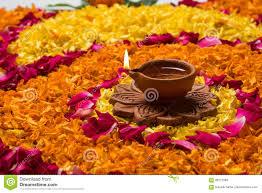 rangoli decoration beautiful flower rangoli or decoration with clay l for diwali