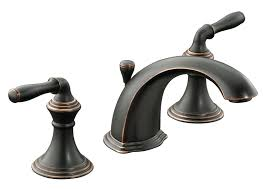 Brushed Bronze Bathroom Fixtures Kohler K 394 4 Brz Devonshire Widespread Lavatory Faucet
