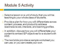 module 5 differentiating instruction to meet the needs of
