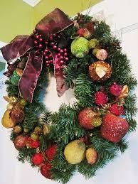 beaded fruit wreath i several beaded fruit
