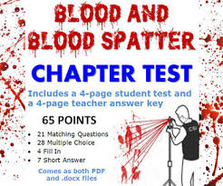 forensic science blood and blood spatter chapter test tpt