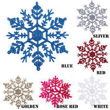 glitter snowflakes ebay