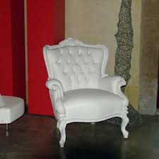 White Leather Armchairs Wooden Armchair Various Finishes For Hall Hotel Idfdesign
