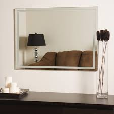 Brushed Nickel Mirror Bathroom by Bathroom Cabinets Bathroom Frameless Mirrors Wall Bracket