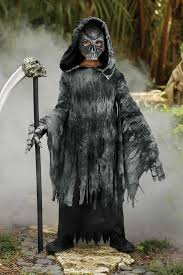 grim reaper costume for boys chasing fireflies