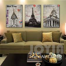 new york home decor stores home decor classical wall canvas painting london paris new york