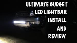 nilight led light bar review nilight 32 180w led light bar install and review youtube