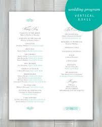 One Page Wedding Program Elegant Damask One Page Wedding Program By Epicstationery 0 75