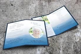Beautiful Funeral Programs A Beautiful Funeral Brochure Peaceful Landscape