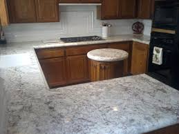 Kitchen Glass Backsplash by Granite Countertop Cream Cabinet Kitchens Glass Backsplash In