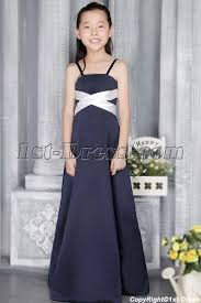 navy bridesmaid dresses navy and ivory junior bridesmaid dresses with straps 2724 1st