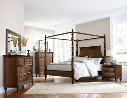Canopy Bedroom Sets by Homelegance Verlyn Canopy Bedroom Set Cherry With Burl Accents