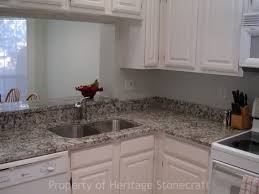 granite countertop antique white kitchen cabinet tiled