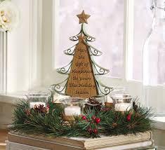 decorated tabletop christmas tree christmas lights decoration