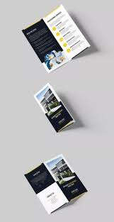 architecture and construction tri fold brochure template psd a4
