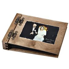 wooden photo album 75 sheet thick wooden photo album with your picture your custom made