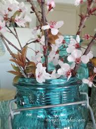 Cherry Home Decor Decorating With Cherry Blossoms U0026 Mason Jars What Meegan Makes