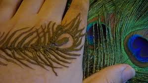 henna peacock feathers with free hand mehndi youtube