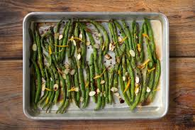 cuisine haricot vert peppery roasted haricots verts with orange zest and almonds