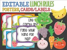 editable fruit editable lunchtime cafeteria signs posters labels veg