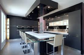 grande cuisine avec ilot central cuisine design ilot central buffet cuisine alinea design