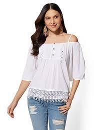 shoulder blouse blouses for women women s shirts new york company