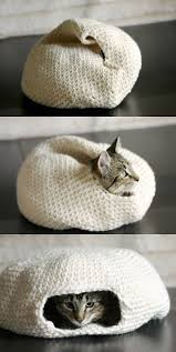 knitting pattern cat cave crocheted cat bed tutorial so cute best crochet tutorials and