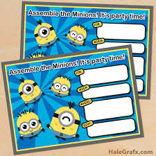 diy minion invitations 21 cool diy minion party ideas minionsallday