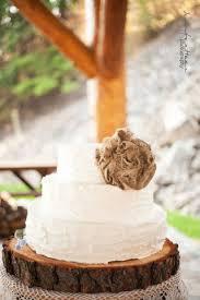 burlap cake toppers wedding flower accessories using burlap something borrowed