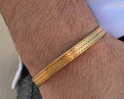 gold bangle bracelet men images Gold bracelet men etsy jpg