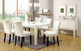 White Furniture Dining Sets Furniture Of America Grangas White Gloss Dining Table