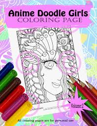 anime doodle coloring page for coloring butterfly eye