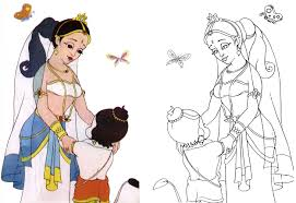 hanuman coloring book copy coloring