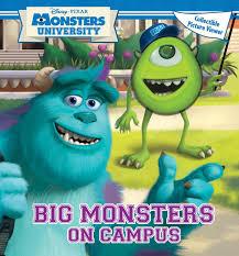 disney pixar monsters university big monsters campus book