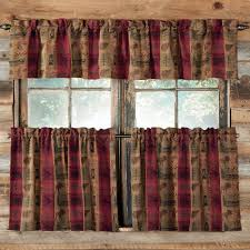 rustic curtains cabin window treatments curtain plaid country