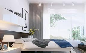 spot chambre à coucher design interieur chambre coucher moderne blanche commode tête lit