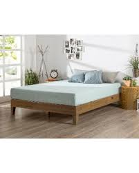 Platform Beds Twin by Incredible Deal On Priage Rustic Oak Solid Wood Deluxe Platform