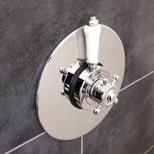 traditional concealed concentric solid brass dual thermostatic