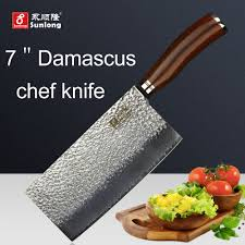 reviews sunlong 7 inch chef knives damascus steel kitchen knife