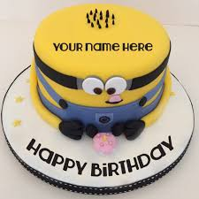 minion birthday cake minion birthday cake for kids with your name