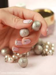 pale pink and silver nails light pink and silver nail designs