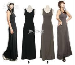 black slim long dress lady u0027s backing skirt fashion pinafore dress