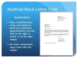 modified block letter with mixed punctuation format