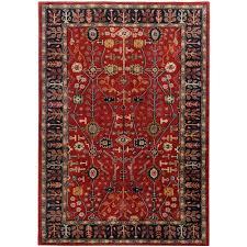 surya ancient treasures red navy oriental rug a135 copy cat