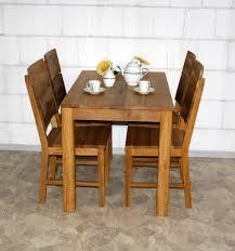 Esszimmertisch Holz Esstisch 110x75x70cm Wildeiche Massiv Geölt