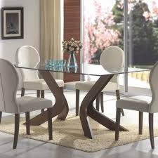furniture oval back dining chairs and glass top table model