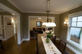 Dining Room Color Schemes by Dining Room Paint Color Ideas Hanging Lamp Blue Wall Cabinet Stove
