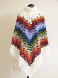 Handmade Poncho - poncho crochet crochet and knit