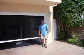 garage screen doors home design by larizza image of motorized power screen for garage door in mission hills