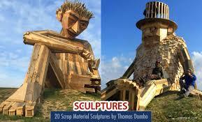 scrap wood sculpture stunning scrap material wood sculptures by dambo